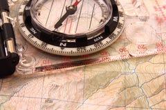 Het moderne Kompas van de Kaart Royalty-vrije Stock Afbeeldingen