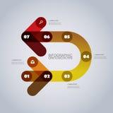 Het moderne Malplaatje Bedrijfs van Infographic - Abstracte Pijlvormen Stock Afbeelding