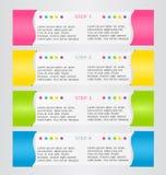 Het moderne malplaatje van het infographics kleurrijke ontwerp met schaduw Stock Foto