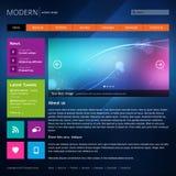 Het moderne malplaatje van het websiteontwerp. Stock Afbeelding