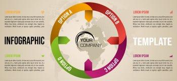 Het moderne malplaatje van infographicsopties met kleurrijke cirkel Stock Foto's