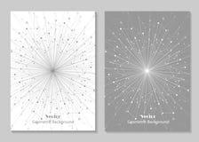 Het moderne ontwerp van de brochuredekking Stock Foto