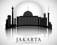 Het moderne Ontwerp van de de Stadshorizon van Djakarta indonesië Royalty-vrije Stock Foto