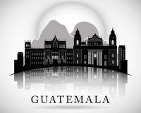 Het moderne Ontwerp van de de Stadshorizon van Guatemala Stock Afbeelding