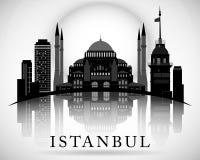 Het moderne Ontwerp van de de Stadshorizon van Istanboel Turkije Stock Fotografie