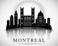 Het moderne Ontwerp van de de Stadshorizon van Montreal canada Stock Foto