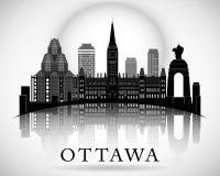 Het moderne Ontwerp van de de Stadshorizon van Ottawa canada Stock Foto