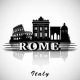 Het moderne Ontwerp van de de Stadshorizon van Rome Italië Stock Afbeelding