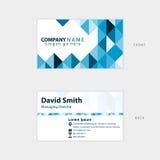 Het moderne ontwerp van de ontwerpkaart voor zaken Stock Fotografie