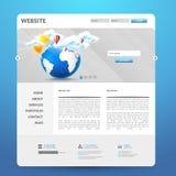 Het moderne Ontwerp van het Websitemalplaatje Royalty-vrije Stock Foto's