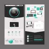 Het moderne Ontwerp van het Websitemalplaatje Royalty-vrije Stock Afbeelding