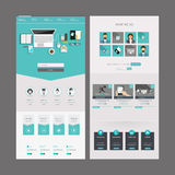 Het moderne Ontwerp van het Websitemalplaatje Royalty-vrije Stock Afbeeldingen