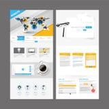 Het moderne Ontwerp van het Websitemalplaatje Stock Fotografie