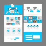 Het moderne Ontwerp van het Websitemalplaatje Stock Afbeelding