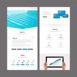Het moderne Ontwerp van het Websitemalplaatje Stock Foto