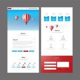 Het moderne Ontwerp van het Websitemalplaatje Royalty-vrije Stock Fotografie