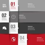 Het moderne ontwerpmalplaatje, kan voor infographi worden gebruikt Royalty-vrije Stock Foto
