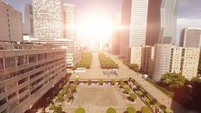 Het moderne panorama van de horizonstad stock videobeelden