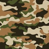Het moderne patroon van manier vector in camo Klassieke kledingsstijl het maskeren camo herhaalt druk Groene bruine zwarte olijf royalty-vrije illustratie