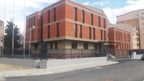 Het moderne politiebureau van Macedonië gorce petrov Stock Afbeelding