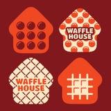 Het moderne professionele vector vastgestelde Huis van de embleemwafel in oranje thema royalty-vrije stock foto