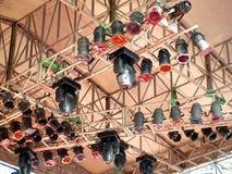 Het moderne Systeem van de Verlichting van het Stadium Stock Afbeeldingen
