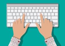 Het moderne toetsenbord van de aluminiumcomputer Royalty-vrije Stock Afbeeldingen