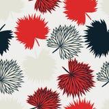 Het moderne tropische ontwerp van het bladeren naadloze patroon royalty-vrije illustratie