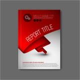 Het moderne Vector abstracte malplaatje van het brochureontwerp Stock Foto