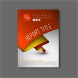 Het moderne Vector abstracte malplaatje van het brochureontwerp Stock Fotografie