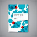 Het moderne Vector abstracte malplaatje van het brochureontwerp Stock Foto's