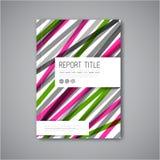 Het moderne Vector abstracte malplaatje van het brochureontwerp Royalty-vrije Stock Fotografie