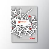 Het moderne Vector abstracte malplaatje van het brochureontwerp Stock Afbeelding
