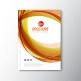 Het moderne Vector abstracte malplaatje van het brochureontwerp Royalty-vrije Stock Foto