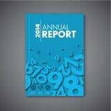 Het moderne Vector abstracte malplaatje van het jaarverslagontwerp Stock Afbeeldingen
