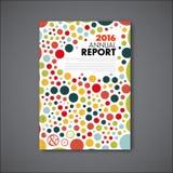 Het moderne Vectormalplaatje van het jaarverslagontwerp Royalty-vrije Stock Foto's