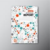 Het moderne Vectormalplaatje van het jaarverslagontwerp Stock Afbeeldingen