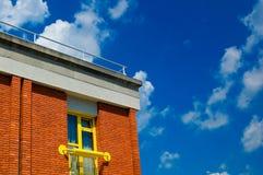 Het moderne vlakke dak royalty-vrije stock afbeeldingen