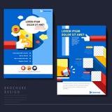 Het moderne vlakke malplaatje van de ontwerpvlieger voor sociaal media concept royalty-vrije illustratie