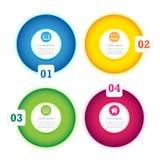 Modern volledig de kleurenmalplaatje van het Ontwerp van de Cirkel Royalty-vrije Stock Foto