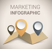 Het moderne zachte malplaatje/infographics van het kleurenOntwerp Royalty-vrije Stock Afbeelding