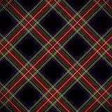 Het moderne Zwarte geruite Schotse wollen stof van Stewart Royalty-vrije Stock Foto's