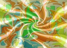 Het modieuze moderne abstracte ontwerp van de zijdestof Stock Afbeelding