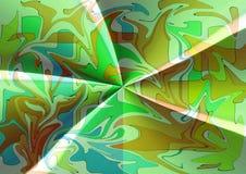 Het modieuze moderne abstracte ontwerp van de zijdestof in groenachtig blauwe tonen royalty-vrije stock afbeelding