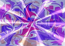 Het modieuze moderne abstracte ontwerp van de zijdestof in purpere roze tonen royalty-vrije stock foto's