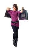 Het modieuze vrouw winkelen Royalty-vrije Stock Afbeelding