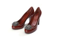 Het modieuze wijfje van schoenen Royalty-vrije Stock Foto