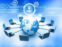 Het mondiale Net van de Computer Royalty-vrije Stock Foto