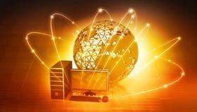 Het mondiale Net van de Computer Stock Foto's