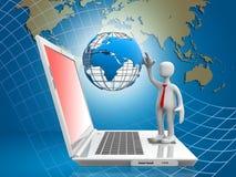 Het mondiale Net van de Computer Royalty-vrije Stock Afbeeldingen